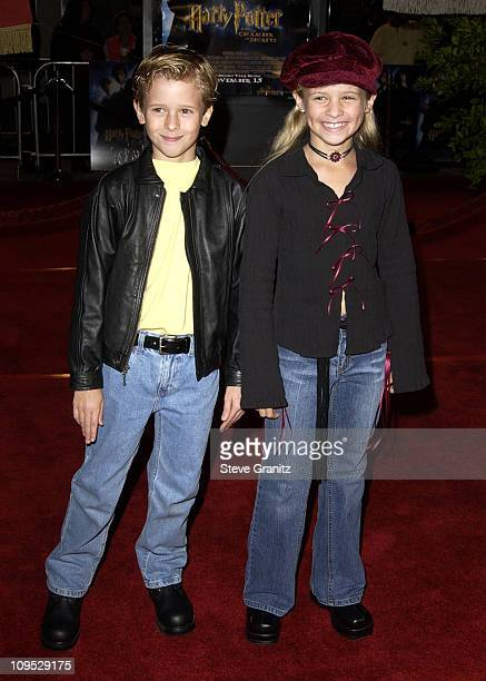 Cayden Boyd Jenna Boyd during 'Harry Potter and the Chamber of Secrets' Premiere Los Angeles Arrivals at Mann Village Theatre in Westwood California...
