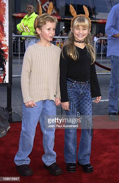 Cayden Boyd Jenna Boyd during 'Kangaroo Jack' Premiere Los Angeles at Chinese Theatre in Hollywood California United States