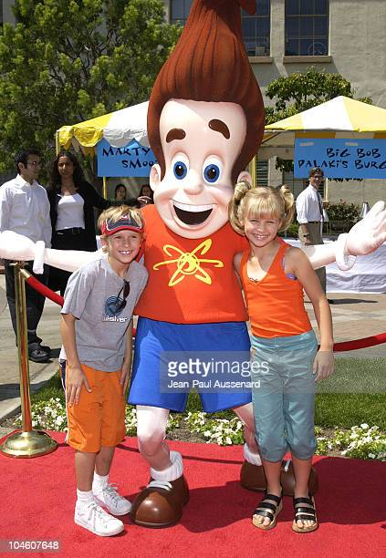 Cayden Boyd Jimmy Neutron Jenna Boyd during 'Hey Arnold The Movie' Premiere at Paramount Studios in Los Angeles California United States