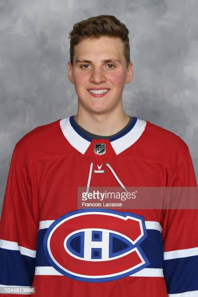 Cayden Primeau of the Montreal Canadiens poses for his official headshot for the 20182019 season on September 13 2018 at the Bell Sports Complex in...