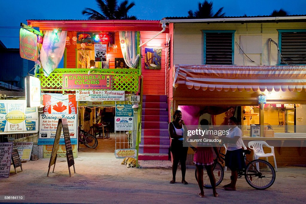Caye Caulker Nightlife Stock Photo Getty Images
