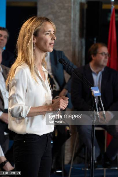 Cayetana Alvarez de Toledo during presents the heads of the PP list to the Congress of Deputies at a rally held in Madrid Spain 16 March 2019 Spain...