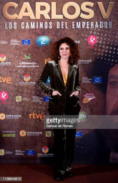 Cayetana Cabezas attends 'Carlos V Los Caminos De Emperador' Madrid Premiere on January 31 2019 in Madrid Spain