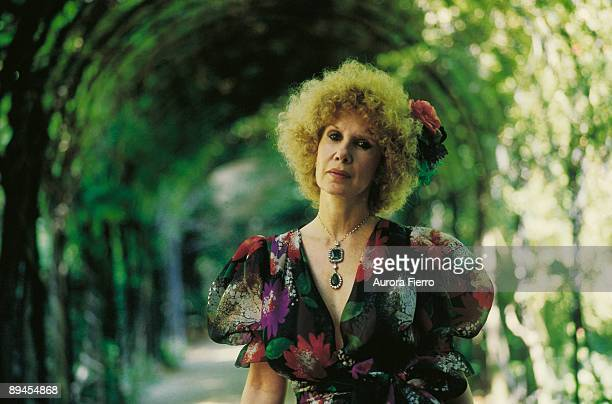Cayetana Fitz James duchess of Alba in the gardens of the Liria Palace