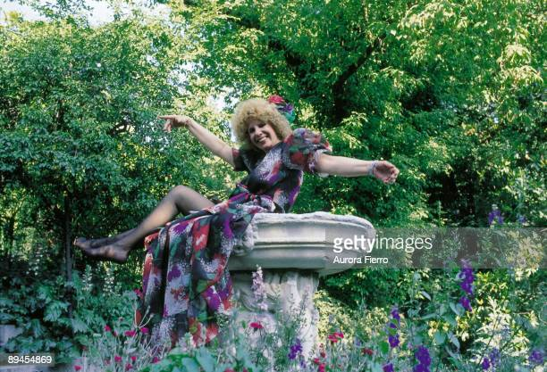 Cayetana Fitz James duchess of Alba in the gardens of the Liria Palace The duchess of Alba on a fountain