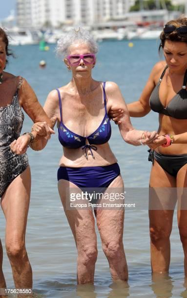 Cayetana Fitz James Stuart Duchess of Alba is on August 4 2013 in Ibiza Spain