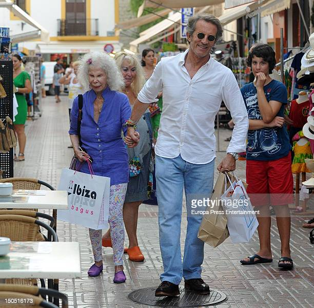 Cayetana FitzJames Stuart and Alfonso Diez shop on August 17 2012 in Ibiza Spain