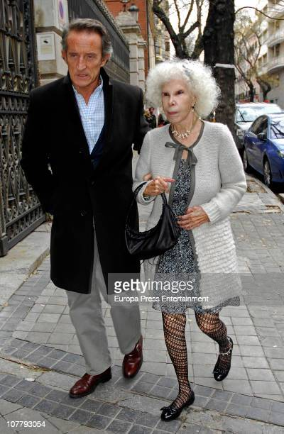 Cayetana FitzJames Stuart Duchess of Alba and Alfonso Diez are seen sighting on December 28 2010 in Madrid Spain