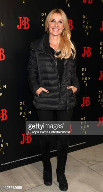 Cayetana Guillen Cuervo attends 'De Repente' theater play at Lara theater on February 05 2019 in Madrid Spain