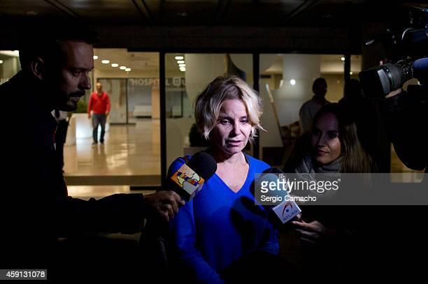Cayetana Martinez de Irujo daughter of Spain's Duchess of Alba leaves the Sagrado Corazon hospital on November 17 2014 in Seville Spain Maria del...