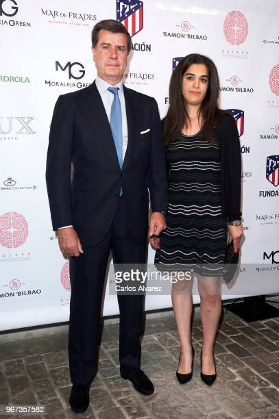 Cayetano Martinez de Irujo and Barbara Mirjan Aliende attend 'Thinking In Your Cloud' charity dinner at the Lux restaurant on June 4 2018 in Madrid...