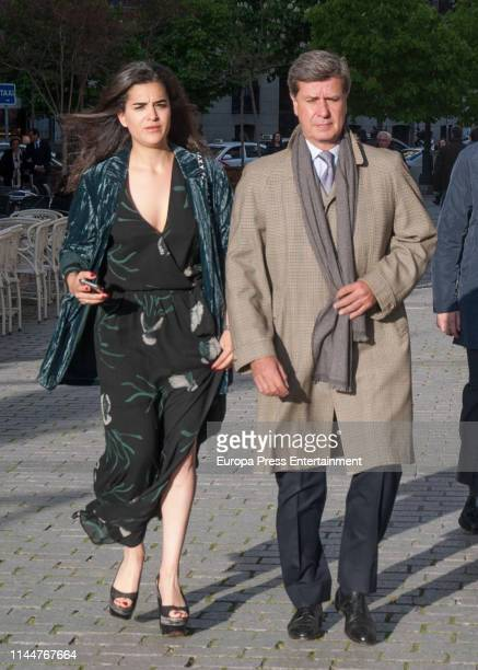 Cayetano Martinez de Irujo and Barbara Mirjan arrive at the Theatre Real on April 23 2019 in Madrid Spain