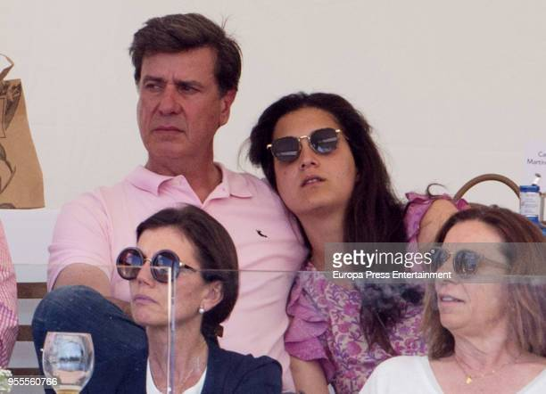 Cayetano Martinez de Irujo and Barbara Mirjan during in the 108th CSI 5 MadridLongines Champions the International Global Champions Tour at Club de...
