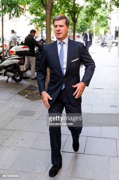 Cayetano Martinez de Irujo arrives at the 'Thinking In Your Cloud' charity dinner at the Lux restaurant at on June 4 2018 in Madrid Spain
