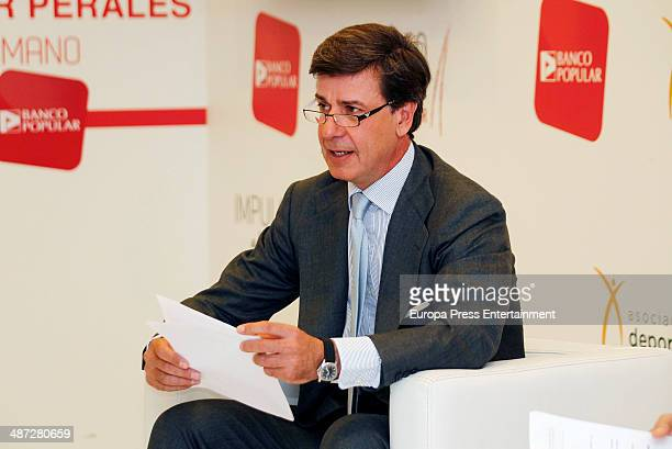 Cayetano Martinez de Irujo attends an agreement signature event with Banco Popular on April 9 2014 in Madrid Spain