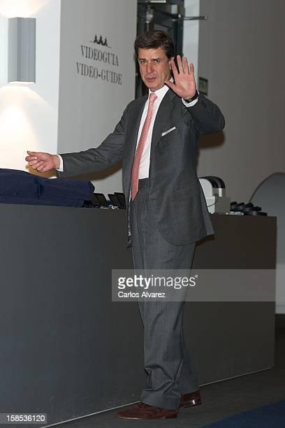 Cayetano Martinez de Irujo attends El Legado Casa de Alba Art exhibition at the Palacio de Cibeles on December 18 2012 in Madrid Spain