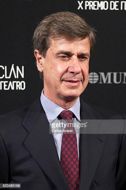 Cayetano Martinez de Irujo attends the 10th ValleInclan Theatre awards at the Royal Theatre on April 11 2016 in Madrid Spain