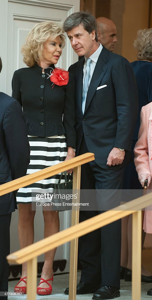 Cayetano Martinez de Irujo (R) attends the bicentenary of the Council of The Greatness of Spain on June 16, 2015 in Madrid, Spain.