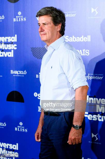 Cayetano Martinez de Irujo attends the photocall before the Jose Merce and Tomatito concert during Universal Music Festival 2019 on July 30 2019 in...