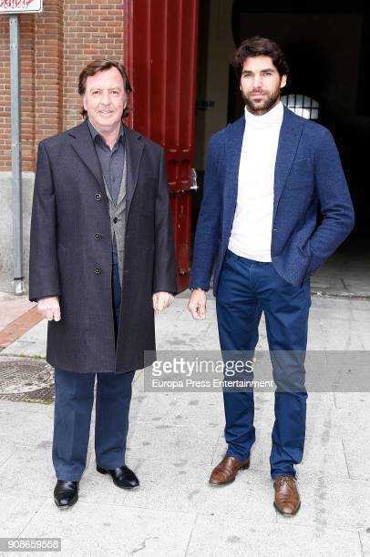 Cayetano Rivera and Curro Vazquez attend a debate at Las Ventas bullring on January 19 2018 in Madrid Spain