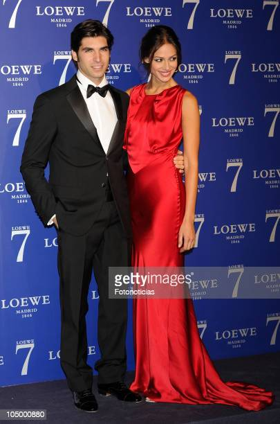 Cayetano Rivera and Eva Gonzalez arrive to the launch party of the new Loewe's fragrance '7' at the Palacio de Cibeles on October 7 2010 in Madrid...