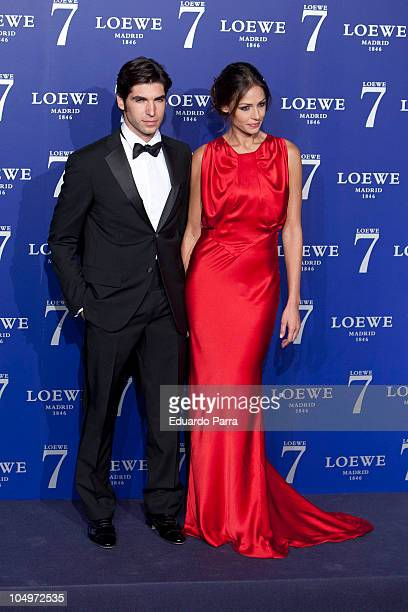 Cayetano Rivera and Eva Gonzalez attend a photocall for the new fragrance by Loewe at City Hall on October 7 2010 in Madrid Spain