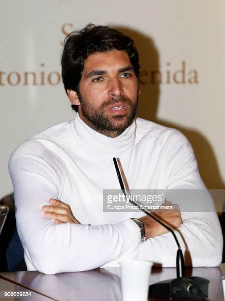 Cayetano Rivera attends a debate at Las Ventas bullring on January 19 2018 in Madrid Spain
