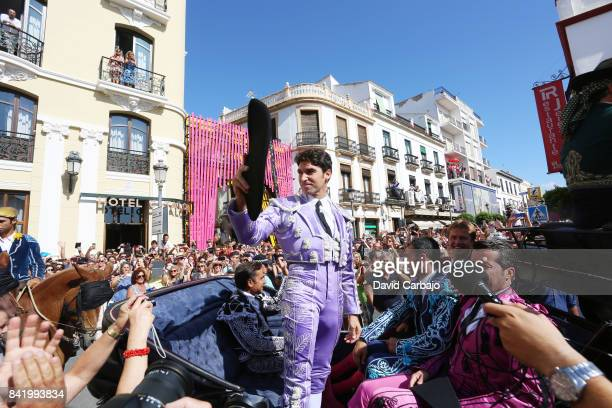 Cayetano Rivera in the square before the bullfight at Goyesca 2017 on September 2 2017 in Ronda Spain