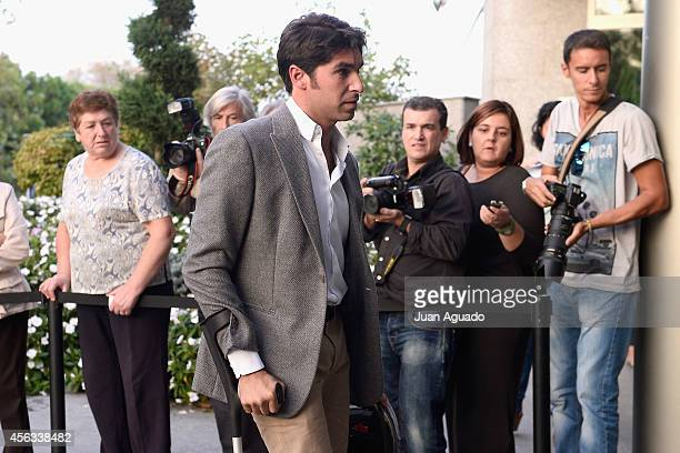 Cayetano Rivera Ordonez attends Parque San Isidro Cemetery following the death of Miguel Boyer on September 29 2014 in Madrid Spain Spanish...