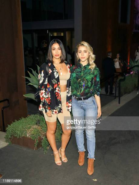 Caylee Cowan and Alicia Naomi are seen on August 01 2019 in Los Angeles California