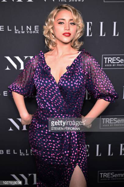 Caylee Cowan attends the NYFW KickOff Party hosted by E Entertainment ELLE IMG at The Pool The Seagram Building on September 5 2018 New York City