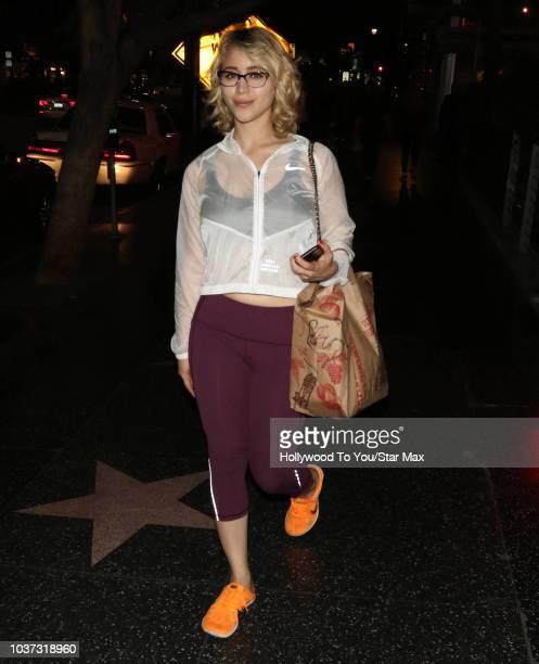 Caylee Cowan is seen on September 20, 2018 in Los Angeles, CA.