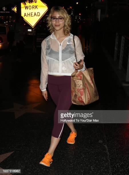 Caylee Cowan is seen on September 20 2018 in Los Angeles CA