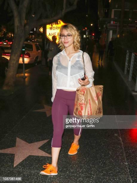 Caylee Cowan is seen on September 20 2018 in Los Angeles California