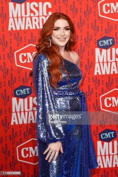 Caylee Hammack attends the 2019 CMT Music Awards at the Bridgestone Arena in Nashville Tennessee