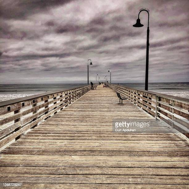 cayucos pier - cayucos stock pictures, royalty-free photos & images