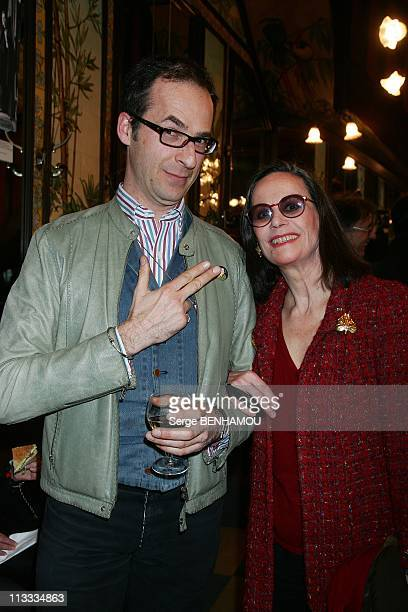 Cazes Prize At Brasserie Lipp In Paris France On March 20 2008 Emmanuel de Brantes and Claudine Auger