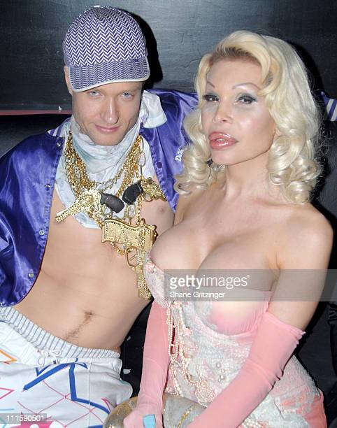 Cazwell and Amanda Lepore during Amanda Lepore Hosts Happy Valley March 21 2006 at Happy Valley in New York City NY United States