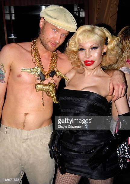 Cazwell and Amanda Lepore during Rosie Perez Hosts the Launch of Michael Musto's New Book 'La Dolce Musto' at Roomservice January 9 2007 at...