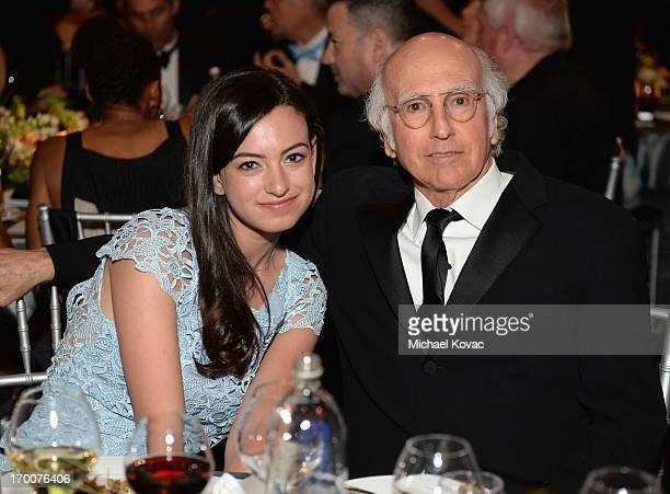 Cazzie David and actor Larry David attend 41st AFI Life Achievement Award Honoring Mel Brooks at Dolby Theatre on June 6 2013 in Hollywood California...