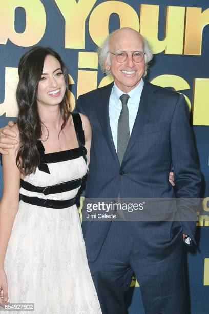 Cazzie David and Larry David attend the Curb Your Enthusiasm Season 9 premiere at SVA Theater on September 27 2017 in New York City
