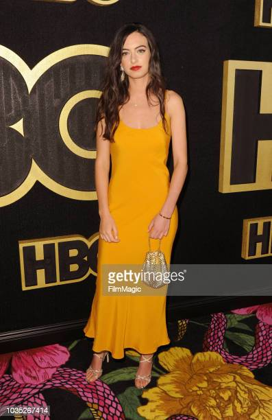 Cazzie David arrives at HBO's Official 2018 Emmy After Party on September 17 2018 in Los Angeles California