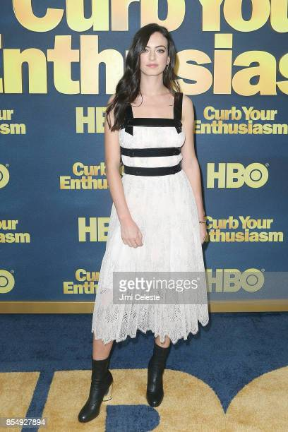 Cazzie David attends the Curb Your Enthusiasm Season 9 premiere at SVA Theater on September 27 2017 in New York City