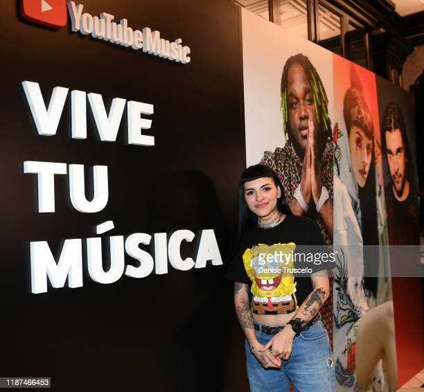 Cazzu attends the YouTube Music Press Brunch at the Latin Grammys 2019 at Bardot Brasserie on November 13 2019 in Las Vegas Nevada