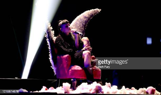 Cazzu onstage during the 2020 Spotify Awards at the Auditorio Nacional on March 05 2020 in Mexico City Mexico