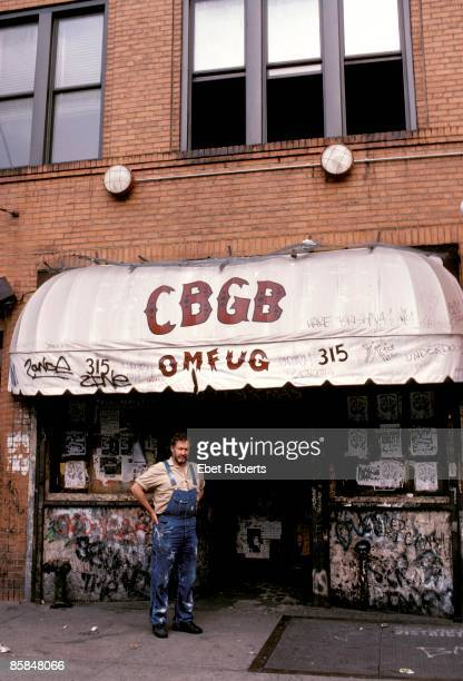 Photo of CBGBs and Hilly KRYSTAL and CBGB's Hilly Krystal standing outside