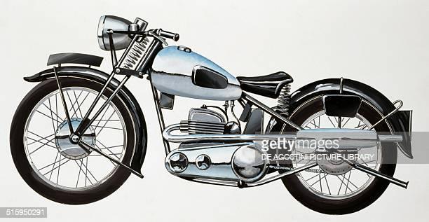 AER 350 cc motorcycle United Kingdom drawing