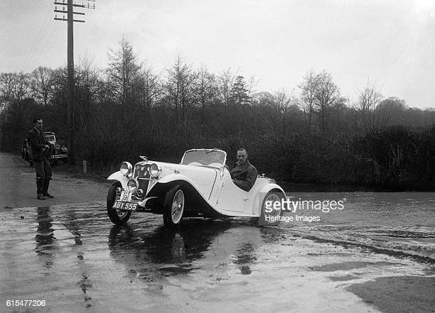 972 cc Singer Le Mans driving through a ford during a motoring trial 1936 Singer Le Mans 1934 972 cc Vehicle Reg No ABY555 Event Entry No 9 Place...