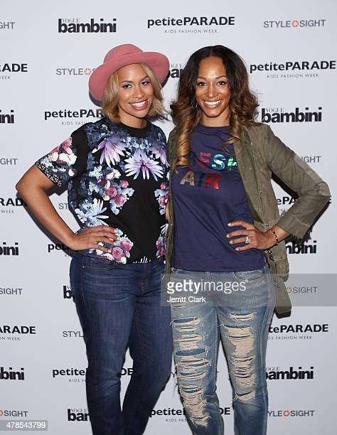 CCandy Clothing owner Amber Sabathia and Alexis Stoudemire attends the Petite Parade Kids Fashion Show at 545 West 22nd Street on March 8 2014 in New...