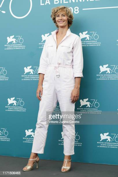 Cécile de France attends The New Pope photocall during the 76th Venice Film Festival at Sala Grande on September 01 2019 in Venice Italy